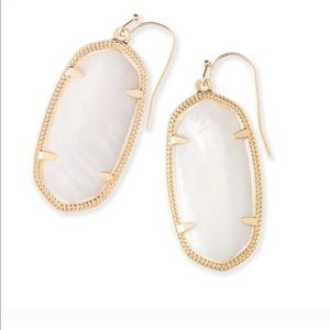 Kendra Scott White and Gold Elle Earrings